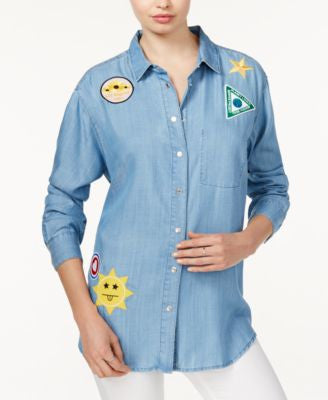 GUESS Tomboy Patched Denim Shirt