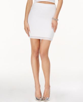 GUESS Textured Mini Pencil Skirt