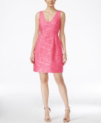 Betsey Johnson Sleeveless Tweed Fit & Flare Dress