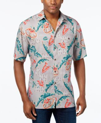 Campia Moda Men's Tropical-Print Short-Sleeve Shirt