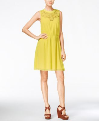 Maison Jules Eyelet-Cutout A-Line Dress, Only at Vogily