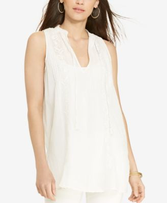 Lauren Ralph Lauren Petite Embroidered Sleeveless Tunic