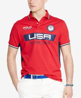 Polo Ralph Lauren Men's Team USA Custom-Fit Performance Polo Shirt
