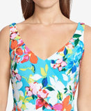 American Living Floral-Print V-Neck Dress