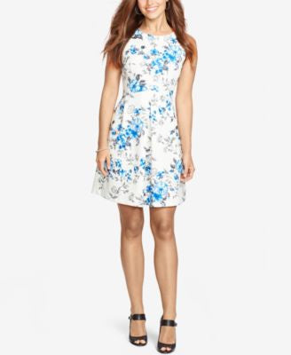 American Living Floral Fit & Flare Dress