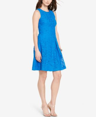 Lauren Ralph Lauren Lace Fit & Flare Dress