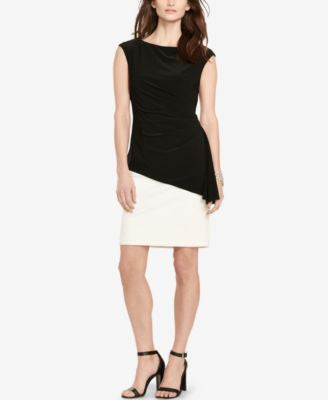 Lauren Ralph Lauren Asymmetrical Overlay Dress