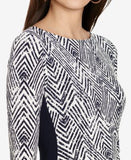 Lauren Ralph Lauren Petite Chevron-Print Sheath Dress