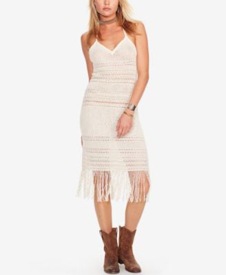 Denim & Supply Ralph Lauren Crocheted Halter Dress