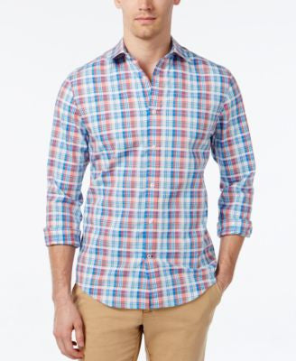 Tommy Hilfiger Men's Crawford Dobby Plaid Long-Sleeve Shirt