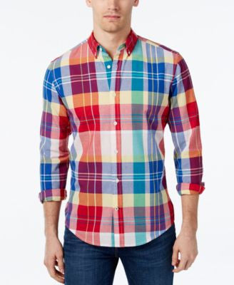 Tommy Hilfiger Men's Dean Large-Plaid Long-Sleeve Shirt