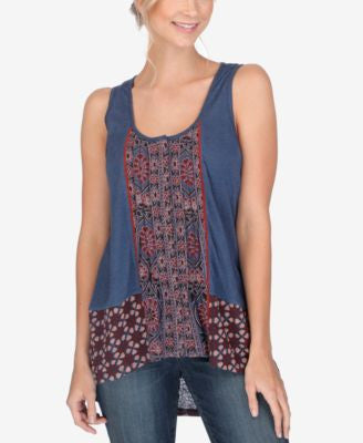 Lucky Brand Printed High-Low Tank Top