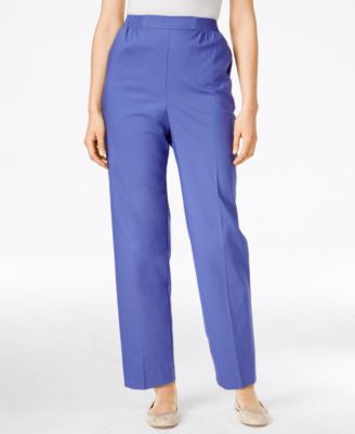 Alfred Dunner Petite Straight-Leg Pull-On Pants