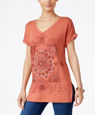 Style & Co. Petite Graphic-Print Top, Only at Vogily