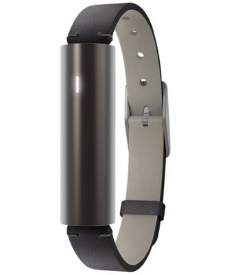 Misfit Unisex Ray Black Leather Strap Activity Tracker 12x38mm S515BM0BD