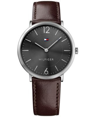 Tommy Hilfiger Men's Sophisticated Sport Brown Leather Strap Watch 40mm 1710352