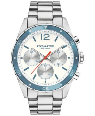 COACH Men's Chronograph Sullivan Sport Stainless Steel Bracelet Watch 44mm 14602085