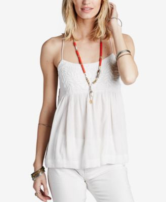 Free People Blackbird Embroidered Babydoll Top