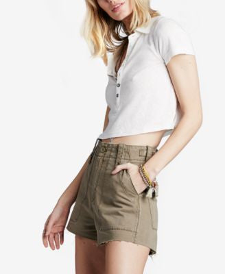 Free People Gunnar Raw-Hem Shorts