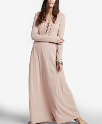 Free People Psychomagic Lace-Up Maxi Dress