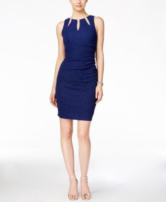 Betsy & Adam Embellished Keyhole Dress