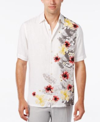 Tasso Elba Men's Floral-Print Short-Sleeve Shirt, Classic Fit, Only at Vogily