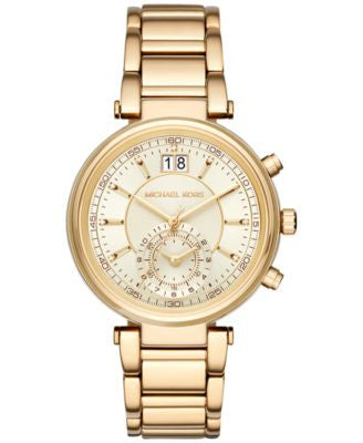 Michael Kors Women's Chronograph Sawyer Gold-Tone Stainless Steel Bracelet Watch 39mm MK6362