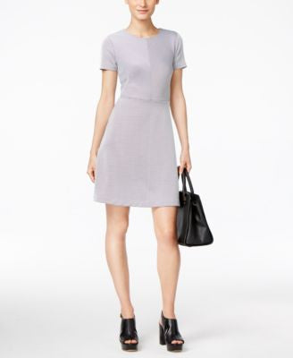 MICHAEL Michael Kors Short-Sleeve Printed Fit & Flare Dress