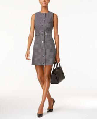 MICHAEL Michael Kors Printed Belted A-Line Dress