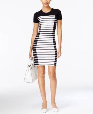 MICHAEL Michael Kors Short-Sleeve Striped Dress