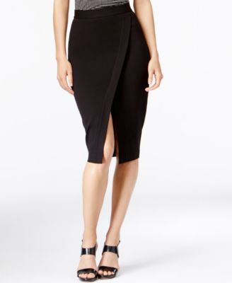 MICHAEL Michael Kors Faux-Wrap Asymmetrical Pencil Skirt
