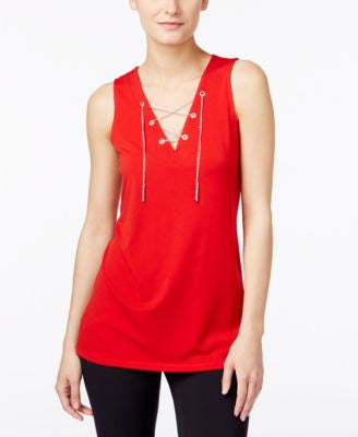 MICHAEL Michael Kors Lace-Up Hardware Top