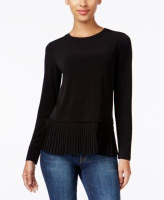 MICHAEL Michael Kors Pleated Peplum Top
