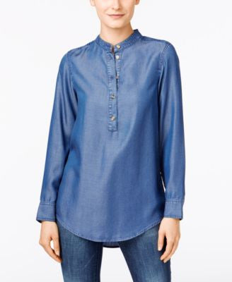 MICHAEL Michael Kors Chambray Tunic Top