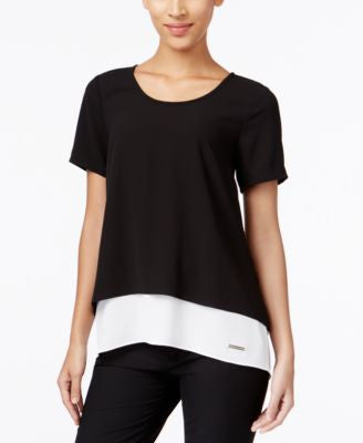 MICHAEL Michael Kors Layered Split-Back Blouse