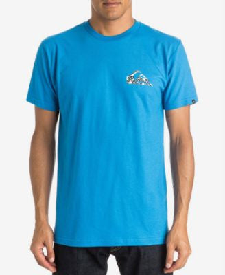 Quiksilver Men's Glitched Graphic-Print Logo T-Shirt