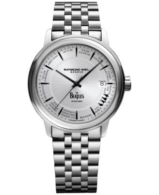 RAYMOND WEIL Men's Swiss Maestro Beatles Stainless Steel Bracelet Watch 40mm 2237-ST-BEAT1 - Limited