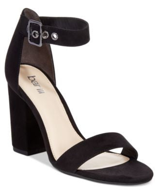 Bar III Mikayla Block Heel Sandals, Only at Vogily
