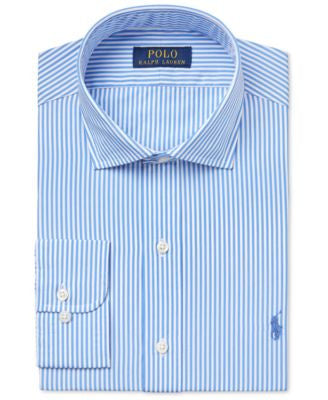 Polo Ralph Lauren Men's Classic-Fit Estate Blue Striped Dress Shirt