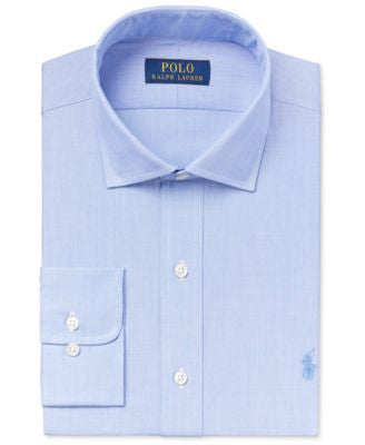 Polo Ralph Lauren Men's Classic-Fit Estate Blue Chambray Dress Shirt