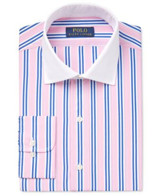 Polo Ralph Lauren Men's Classic-Fit Contrast-Collar Striped Dress Shirt
