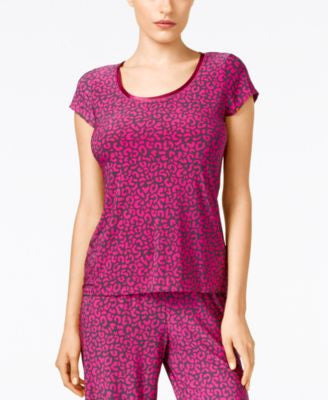 Alfani Leopard-Print Pajama Top, Only at Vogily