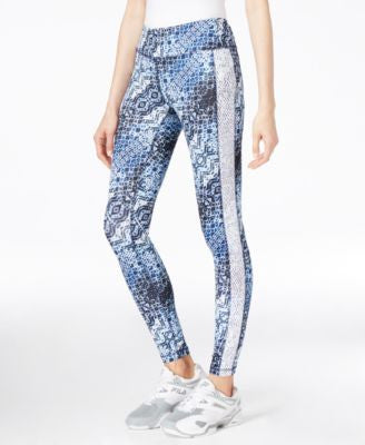 Karen Kane Life Printed Crochet-Trim Active Pants