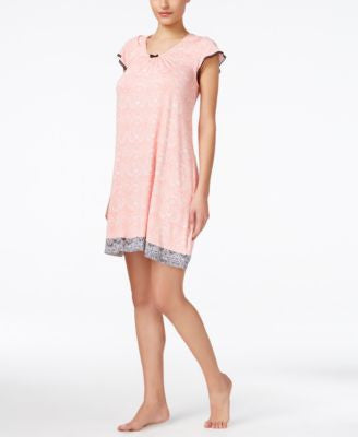 Ellen Tracy Flutter-Sleeve Short Nightgown