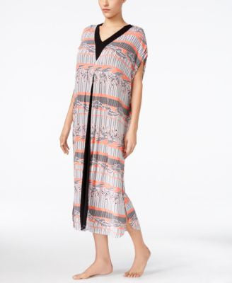 Ellen Tracy Contrast-Panel Caftan