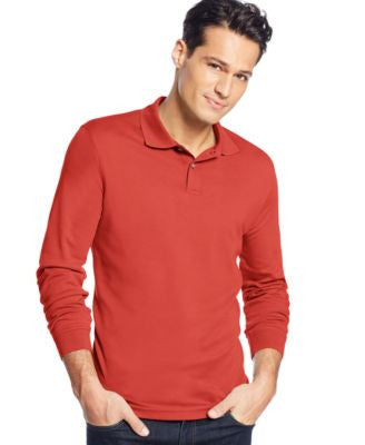 Tasso Elba Signature Interlock Long Sleeve Polo
