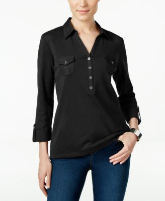 Karen Scott Polo Top, Only at Vogily