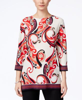 JM Collection Printed Tunic, Only at Vogily