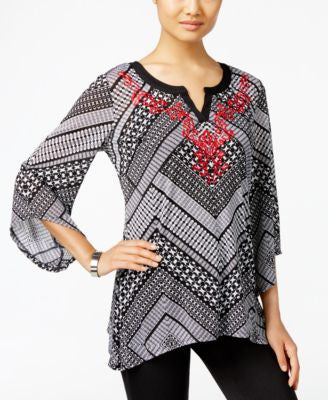 JM Collection Embroidered Top, Only at Vogily
