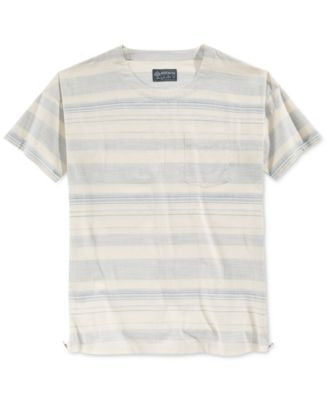 American Rag Men's Zipper-Trim Striped Shirt, Only at Vogily